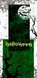 Halloweenowa zaproszenie karta Zdjęcie Royalty Free