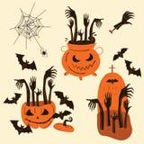 Halloweenowe żywy trup ręki Trikowi lub funda przedmioty Obraz Royalty Free