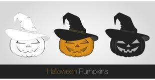 Halloweenowe banie ilustracji