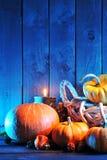Halloweenowe banie w błękita świetle Fotografia Stock