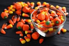 Halloweenowe cukierek kukurudze Obrazy Stock