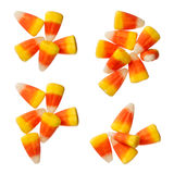 Halloweenowe cukierek kukurudze odizolowywać na bielu Zdjęcia Royalty Free
