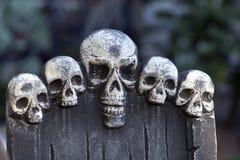 Halloweenowe czaszek dekoracje Zdjęcia Stock