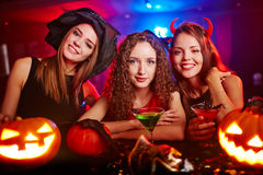 Halloweenowe damy Zdjęcie Stock