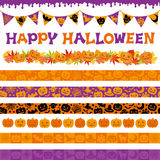 Halloweenowe dekoracje Obrazy Stock