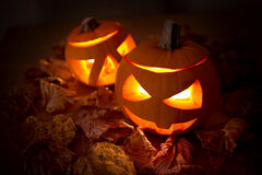 Halloweenowe dekoracje Zdjęcia Stock