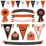 Halloweenowe dekoracje Zdjęcie Stock