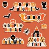 Halloweenowe etykietki Fotografia Royalty Free