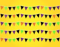 Halloweenowe flaga lub chorągiewka Zdjęcie Royalty Free