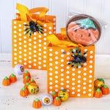 Halloweenowe fund torby Zdjęcia Royalty Free