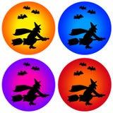 Halloweenowe ikony Obrazy Stock
