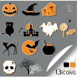 Halloweenowe Ikony Zdjęcia Stock