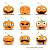 Halloweenowe Ikony Zdjęcia Royalty Free