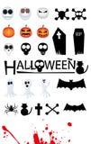 Halloweenowe ikony Fotografia Stock