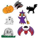 Halloweenowe ikony Fotografia Royalty Free