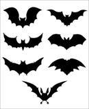 Halloweenowe ikony ustawiać nietoperze ilustracji