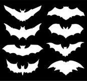Halloweenowe ikony ustawiać nietoperze royalty ilustracja