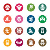 Halloweenowe kolor ikony Fotografia Royalty Free
