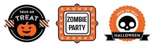 Halloweenowe odznaki Fotografia Royalty Free