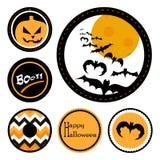 Halloweenowe odznaki Zdjęcia Royalty Free