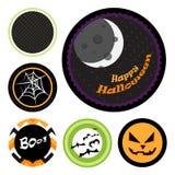 Halloweenowe odznaki Zdjęcia Stock