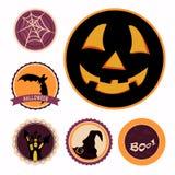 Halloweenowe odznaki Fotografia Stock
