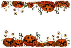 Halloweenowe serie - dyniowy potwór Zdjęcie Stock