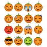 Halloweenowe smiley ikony obraz royalty free