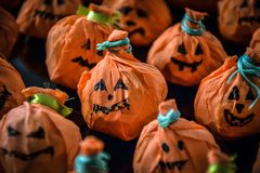 Halloweenowe szczęśliwe bani fundy zdjęcie royalty free