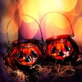 Halloweenowe szklane banie Fotografia Stock
