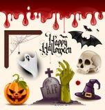 Halloweenowe wektorowe ikony Obrazy Royalty Free