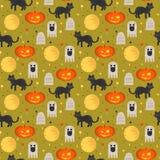 Halloweenowego pojęcia bezszwowy wzór Obraz Stock
