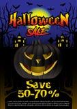 Halloweenowej sprzedaży oferty projekta plakatowy pojęcie Zdjęcie Royalty Free