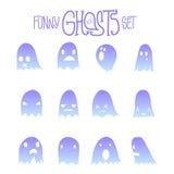 Halloweenowi Śmieszni duchy Ustawiający Zdjęcia Stock