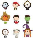 Halloweenowi charakterów Avatars Obrazy Stock