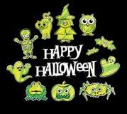 Halloweenowi charakterów projekty Zdjęcie Royalty Free