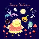 Halloweenowi Charaktery Zdjęcia Stock