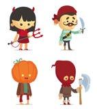 Halloweenowi charaktery ilustracja wektor