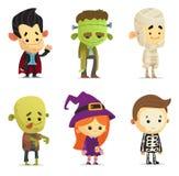 Halloweenowi charaktery royalty ilustracja