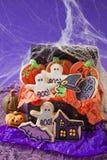 Halloweenowi ciastka Fotografia Stock