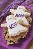 Halloweenowi ciastka Zdjęcia Stock