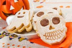 Halloweenowi ciastka Zdjęcia Royalty Free