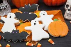 Halloweenowi ciastka Obrazy Stock
