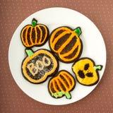 Halloweenowi Czekoladowi Cukrowi ciastka Zdjęcie Royalty Free