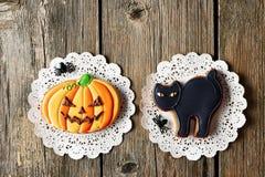 Halloweenowi domowej roboty piernikowi ciastka obraz royalty free