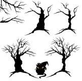 Halloweenowi drzewa ustawiający Fotografia Stock