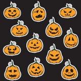 Halloweenowi dyniowi majchery Zdjęcie Stock