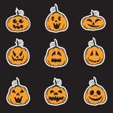 Halloweenowi dyniowi majchery Zdjęcia Royalty Free