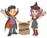 Halloweenowi dzieciaki Obrazy Stock