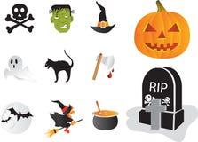 Halloweenowi elementy Obrazy Royalty Free